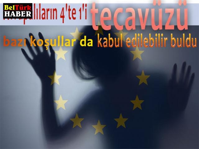 """Avrupalıların 4'te 1'i """"tecavüzü bazı koşullar da"""" kabul edilebilir buldu"""