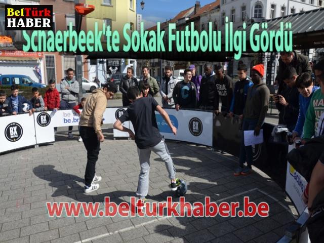 Schaerbeek'te Sokak Futbolu İlgi Gördü