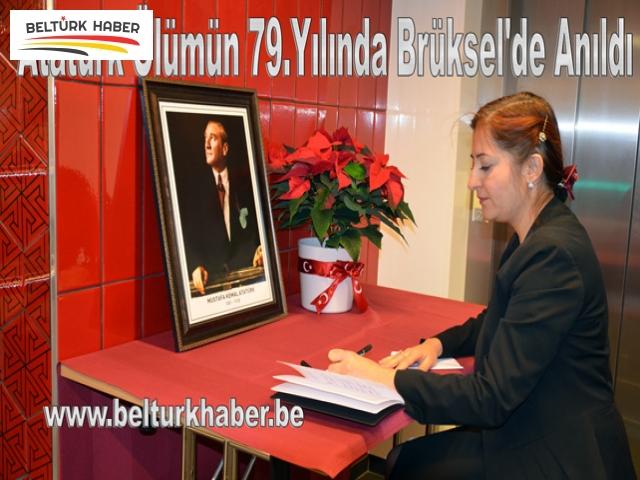 Atatürk Ölümün 79.Yılında Brüksel'de Anıldı