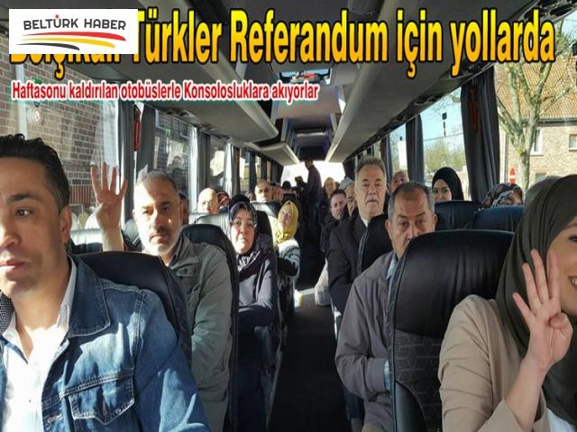 Belçikalı Türkler Referandum için yollarda