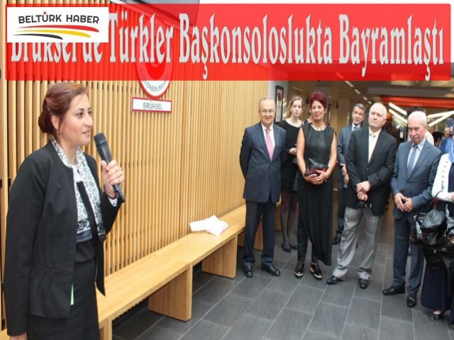 Brüksel'de Türkler Başkonsoloslukta bayramlaştı
