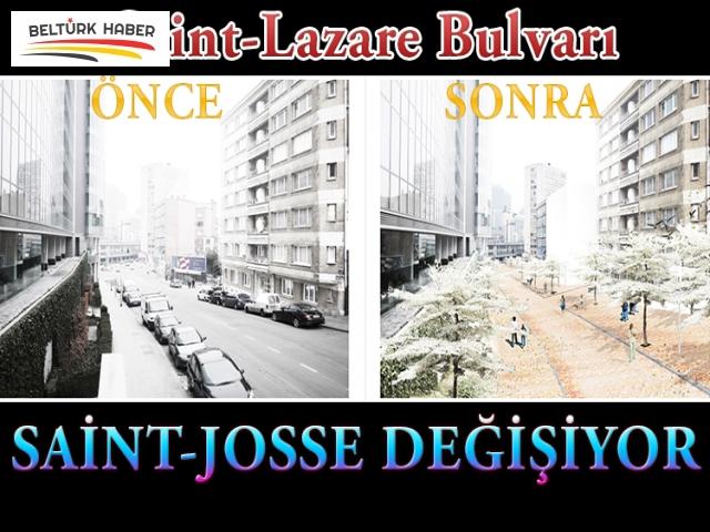 Saint-Lazare Bulvarı ve çevresi tamamıyle yenileniyor