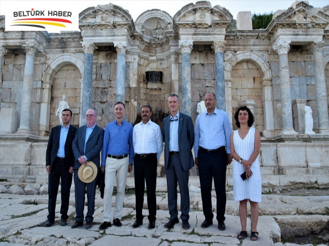 Büyükelçiler Sagalassos Antik Kenti'ni gezdi