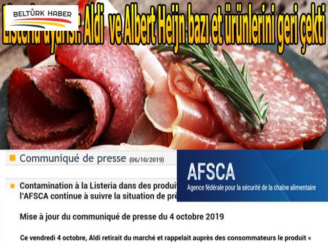 Listeria uyarısı: Aldi ve Albert Heijn bazı et ürünlerini geri çekti