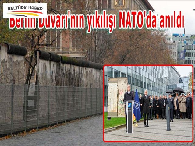 Berlin Duvarı'nın yıkılışı NATO'da anıldı