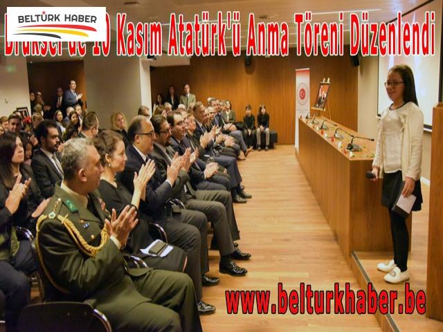 Brüksel'de 10 Kasım Atatürk'ü Anma Töreni Düzenlendi