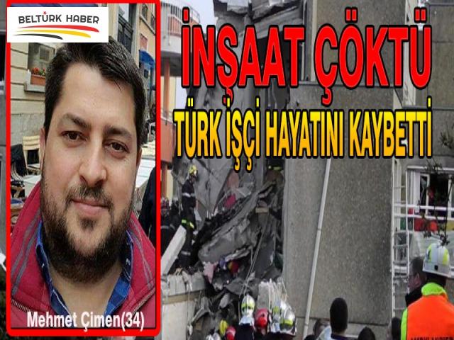İnşaat Çöktü Türk İşçi Hayatını Kaybetti