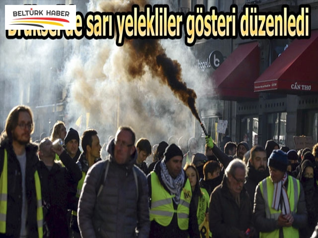 Brüksel'de sarı yelekliler gösteri düzenledi