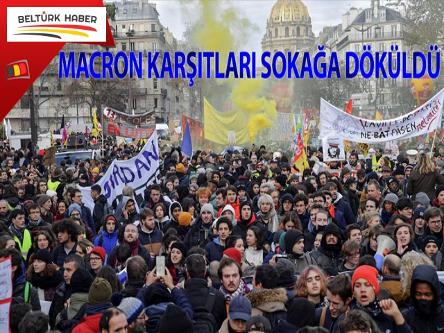 Fransa'da Macron karşıtları sokağa döküldü