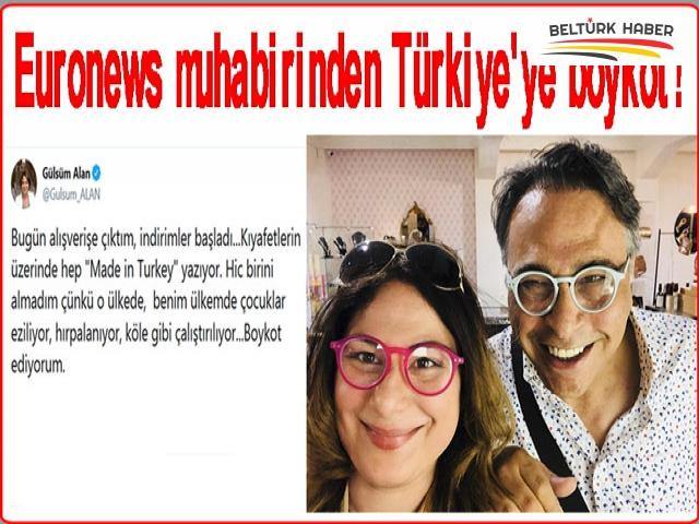 Euronews muhabirinden Türkiye'ye boykot!