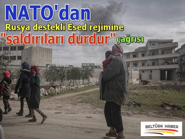 """NATO'dan Rusya destekli Esed rejimine """"saldırıları durdur"""" çağrısı"""
