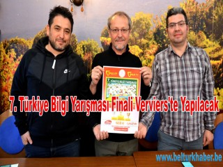 7. Türkiye Bilgi Yarışması Finali Verviers'te Yapılacak