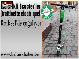 Elektrikli Scooter'ler Brüksel'de çoğalıyor