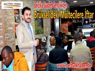 Belçika Saadet'ten Brüksel'deki Mültecilere İftar