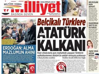 Belçikalı Türklere Atatürk Kalkanı