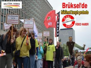 Brüksel'de hükümet karşıtı protesto