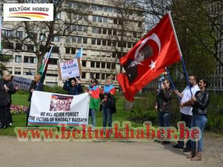 ERMENİSTAN BRÜKSEL'DE PROTESTO EDİLDİ