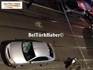 Helmet Caddesinde üzücü kaza