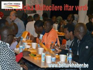 İHH Belçika Mültecilere iftar verdi