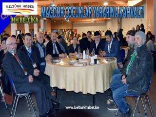 İHH Charleroi Mağdur çocuklar yararına kahvaltı düzenledi