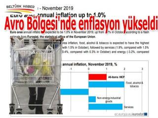 Avro Bölgesi'nde enflasyon yükseldi