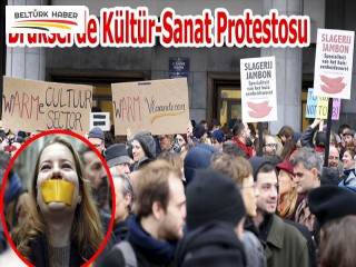 Brüksel'de Kültür-Sanat Protestosu