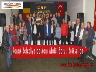 Konak Belediye başkanı Abdül Batur, Brüksel'de