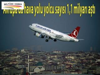 Avrupa'da hava yolu yolcu sayısı 1,1 milyarı aştı