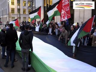Brüksel'de ABD'nin sözde Orta Doğu barış planı protesto edildi