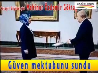 Cezayir Büyükelçisi Özdemir, Güven mektubunu sundu