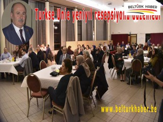 Turkse Unie yeniyıl resepsiyonu düzenledi
